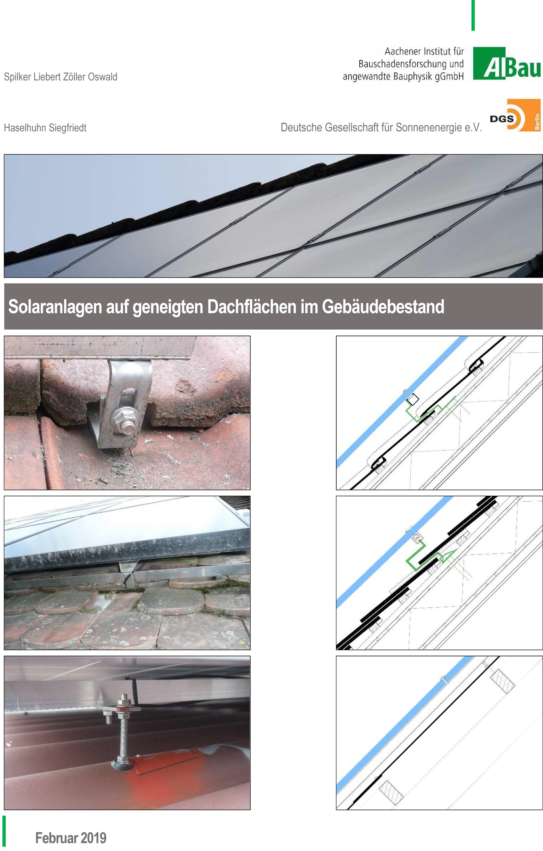 Forschungsbericht: Solaranlagen auf geneigten Dächern - Coverbild