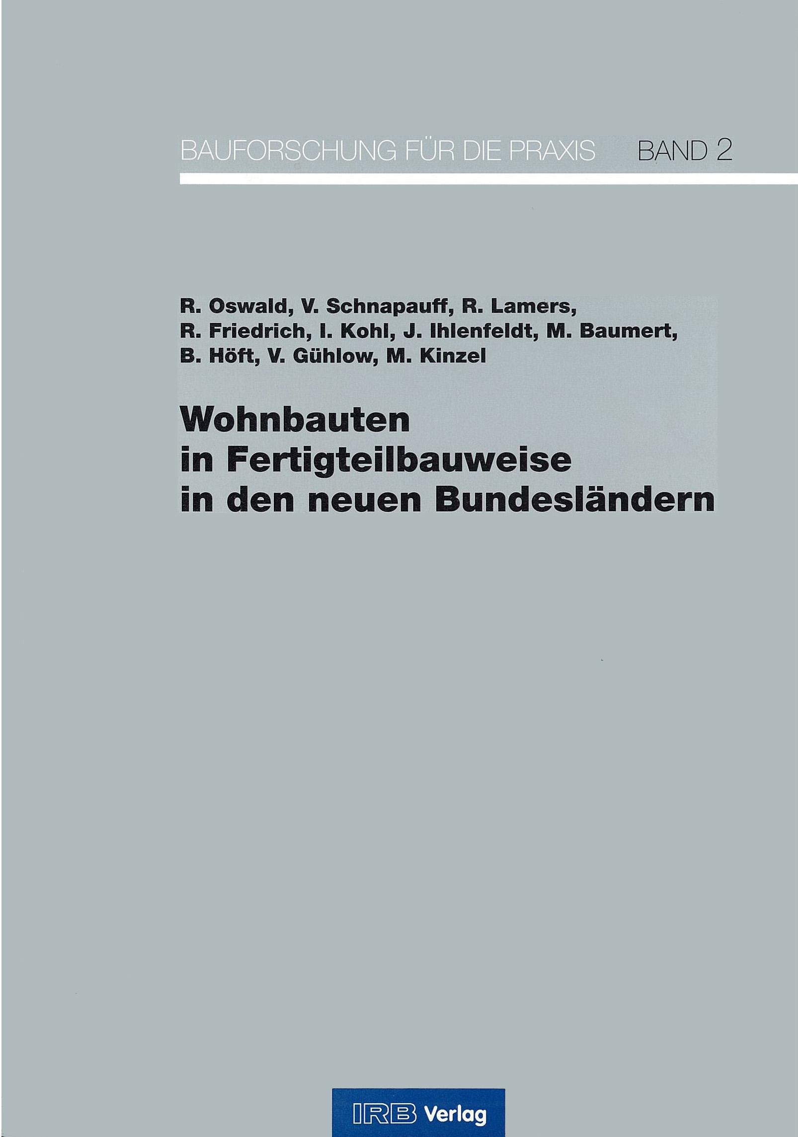Forschungsbericht: Wohnbaute in Fertigteilbauweise - Coverbild