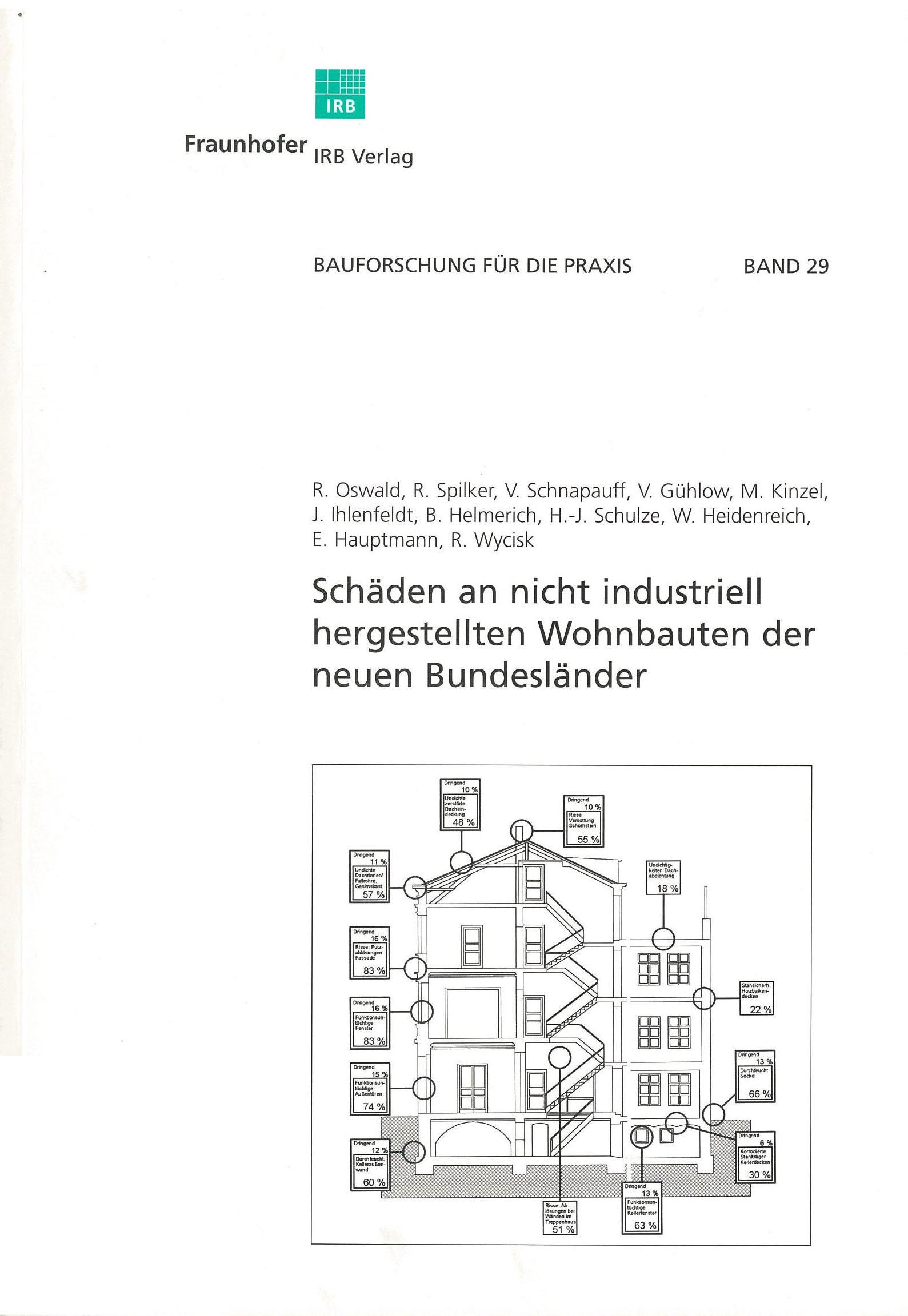 Forschungsbericht: Schäden an nicht industriell hergestellten Wohnbauten - Coverbild