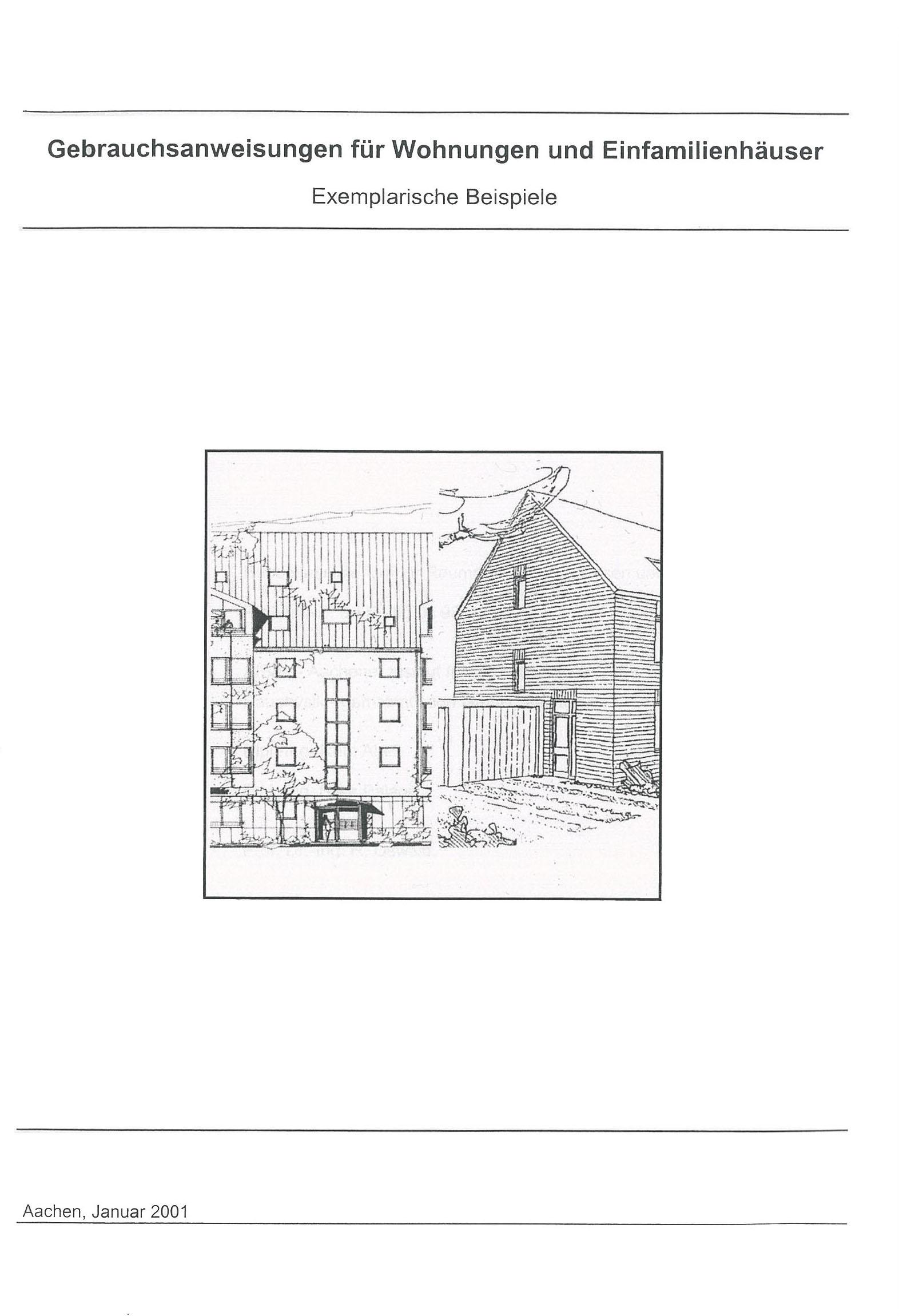 Forschungsbericht: Gebrauchsanweisungen für Wohnungen und Häuser - Coverbild