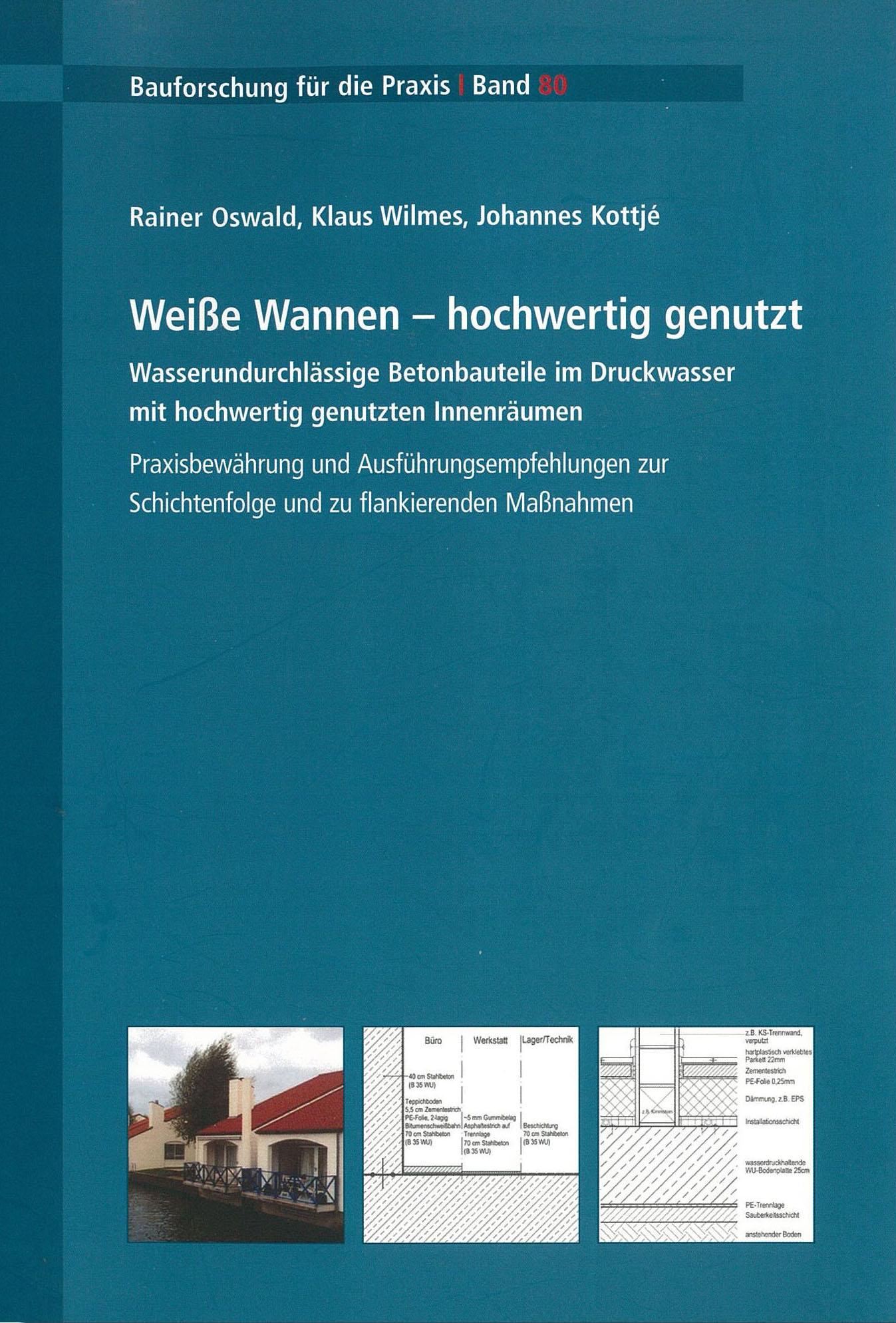 Forscshungsbericht: Weiße Wannen Flankierende Maßnahmen - Coverbild