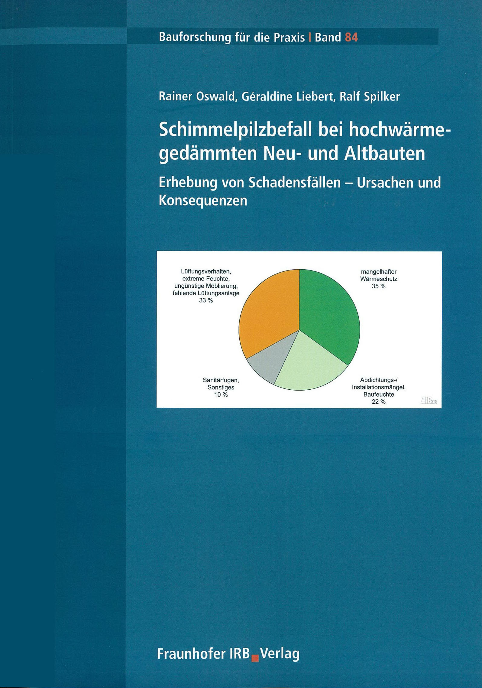 Forschungsbericht: Schimmelpilzbefall bei hochwärmegedämmten Neu- und Altbauten - Coverbild