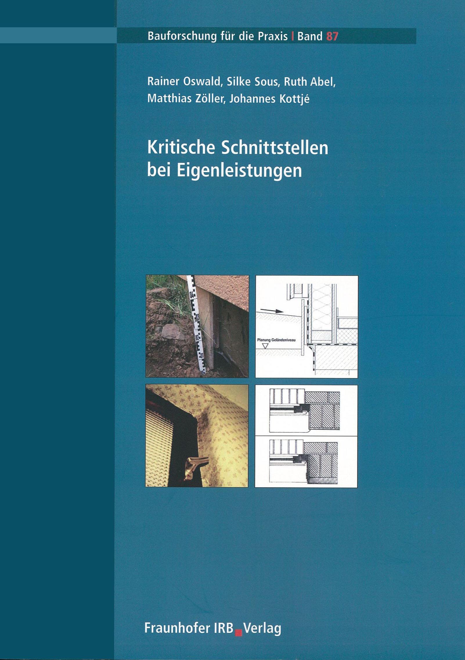 Forschungsbericht: Kritische Schnittstellen bei Eigenleistung - Coverbild