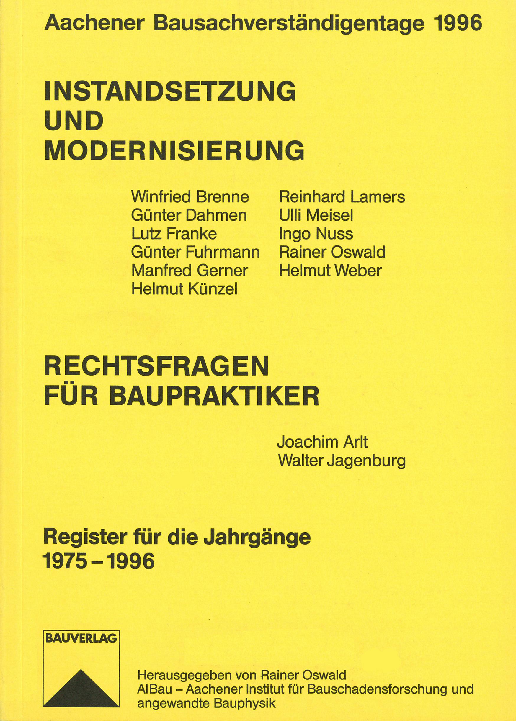 Tagungsband: Instandsetzung und Modernisierung - Coverbild