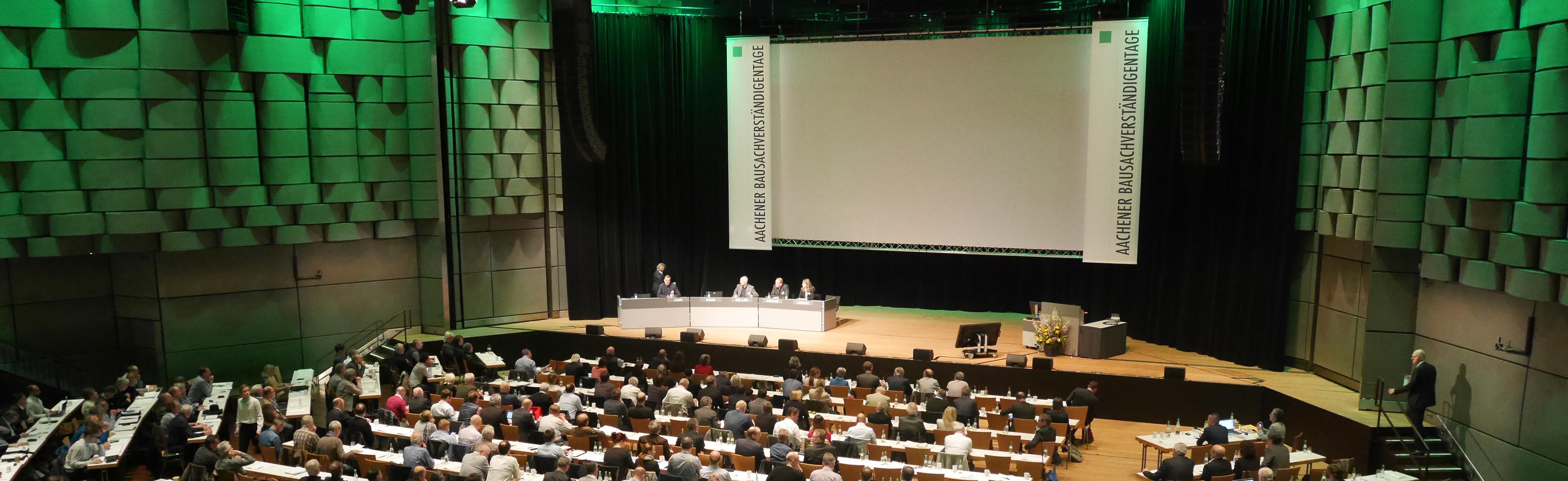 Aachener Bausachverständigentage Vortrag Innenraum Eurogress